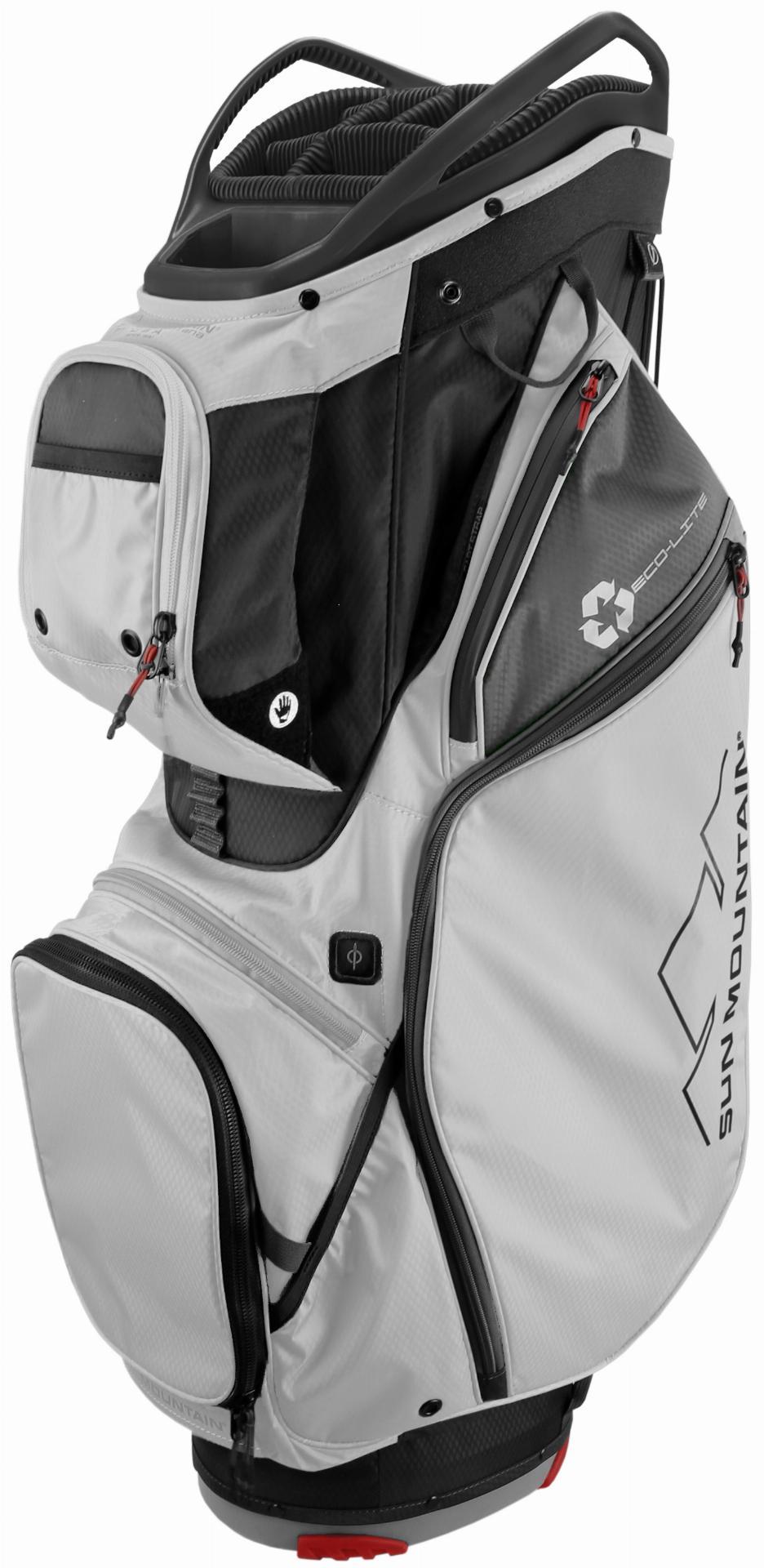 ECO-LITE Cartbag, schwarz/weiß/grau/rot