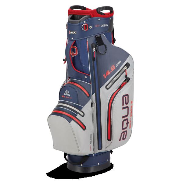 Aqua Sport 3 Cartbag, navy/silber/rot