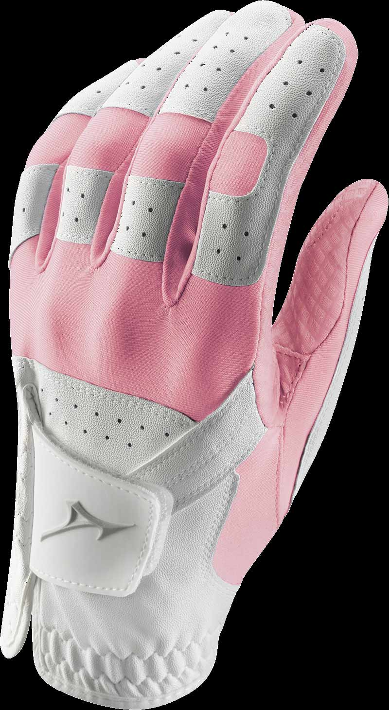 Stretch Handschuh, weiß/pink