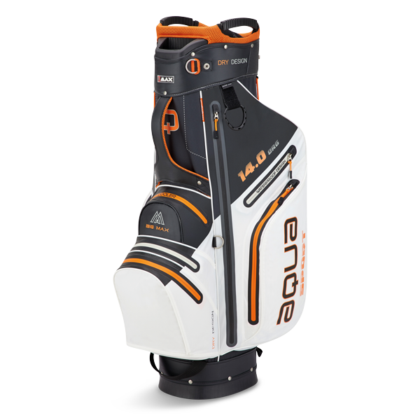 Aqua Sport 3 Cartbag, weiß/schwarz/orange