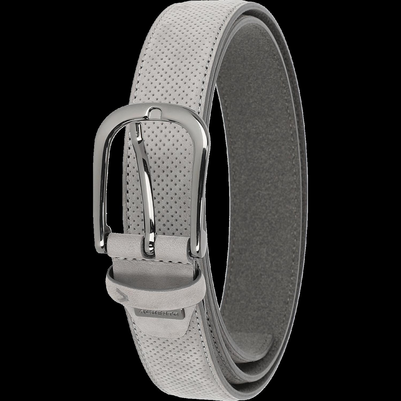 Gürtel - Leather Belt, hellgrau