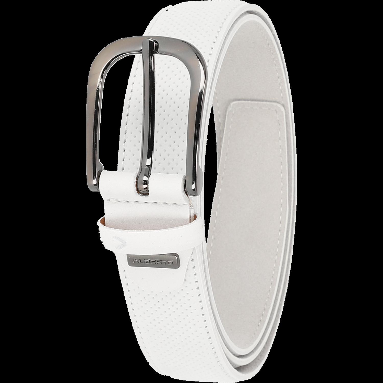 Gürtel - Leather Belt, weiß