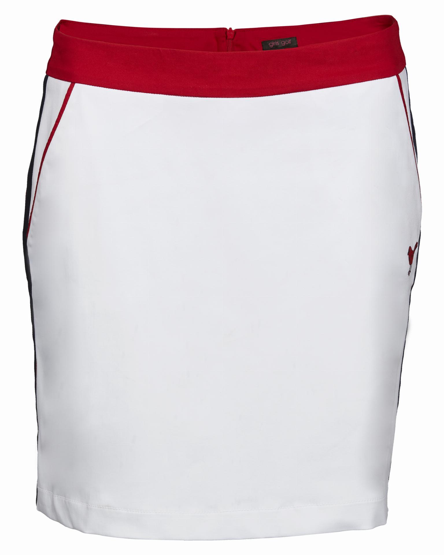Skort, weiß/rot