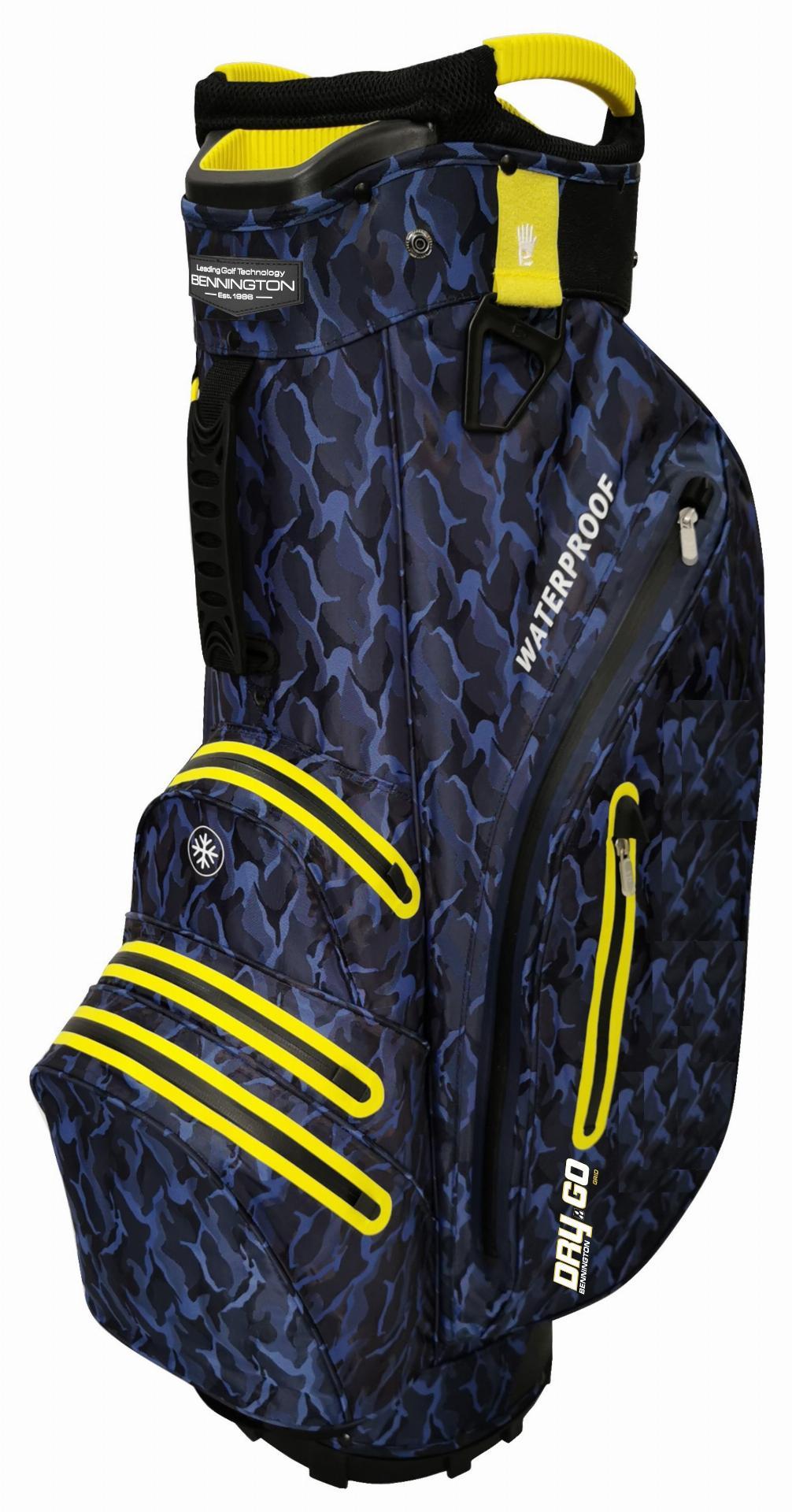 Dry 14 GO Waterproof Cartbag, blau-camo/gelb