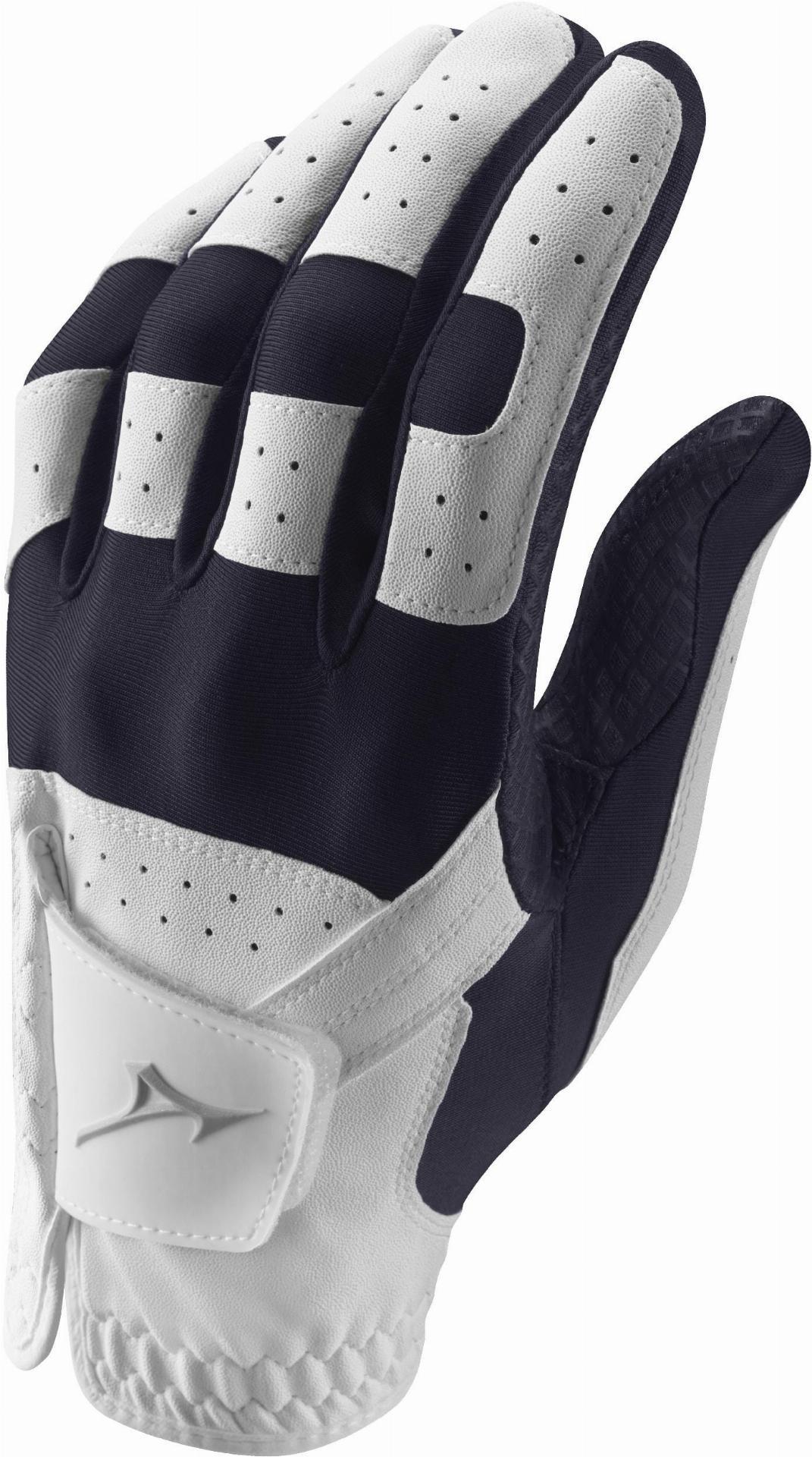 Stretch Handschuh, weiß/navy