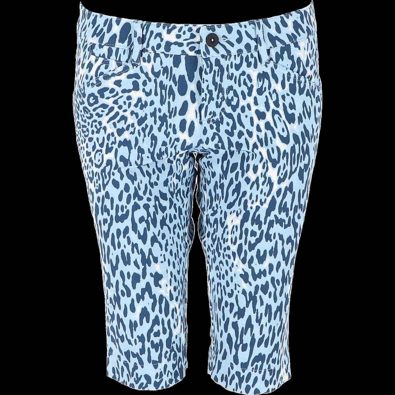 MONA-K Bermuda - WR Leopard Print, fantasy blau