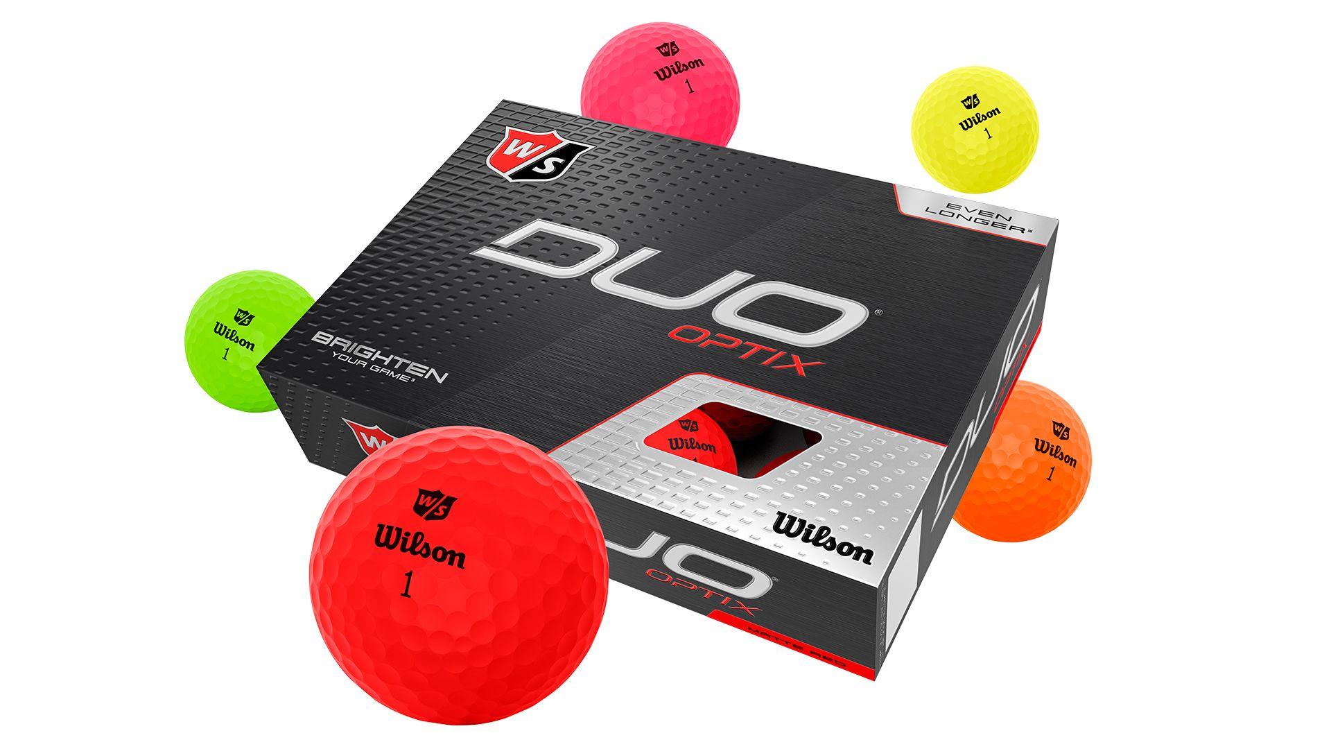 Duo Optix Golfbälle, gelb