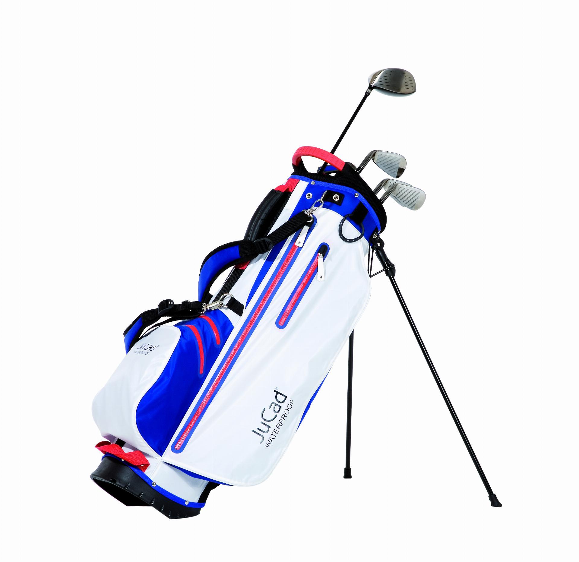 2 in 1 Waterproof Standbag, blau-weiß/rot