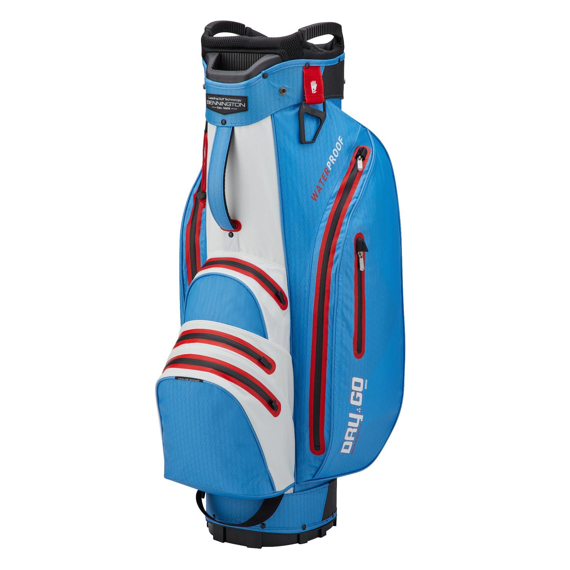 Dry 14 GO Waterproof Cartbag, kobaltblau/weiß/rot