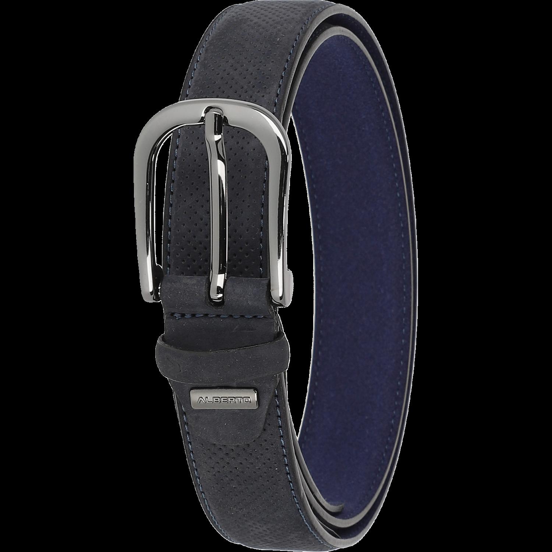 Gürtel - Leather Belt, dunkelblau