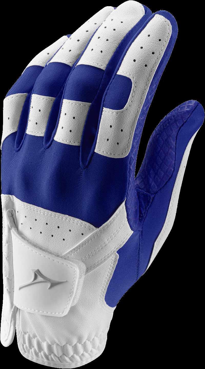 Stretch Handschuh, weiß/blau