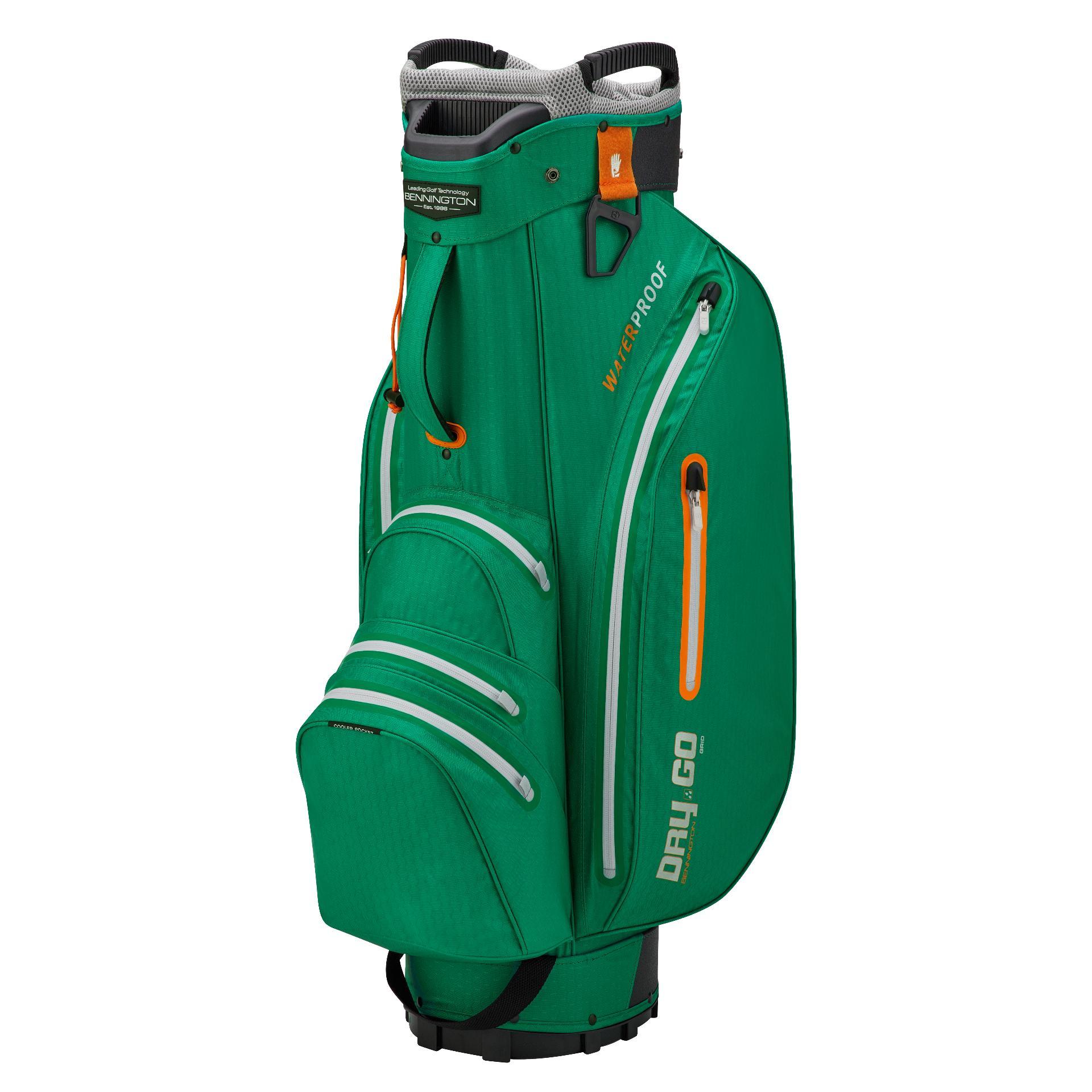 Dry 14 GO Waterproof Cartbag, britisches-grün/silber