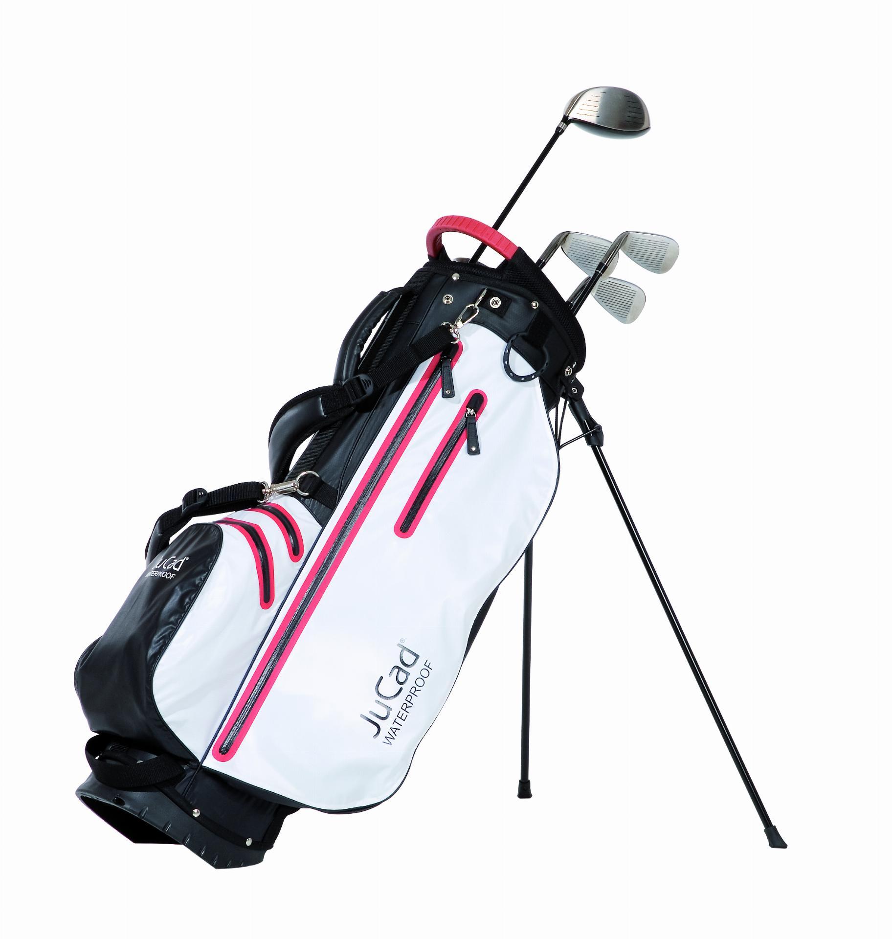 2 in 1 Waterproof Standbag, schwarz-weiß/rot
