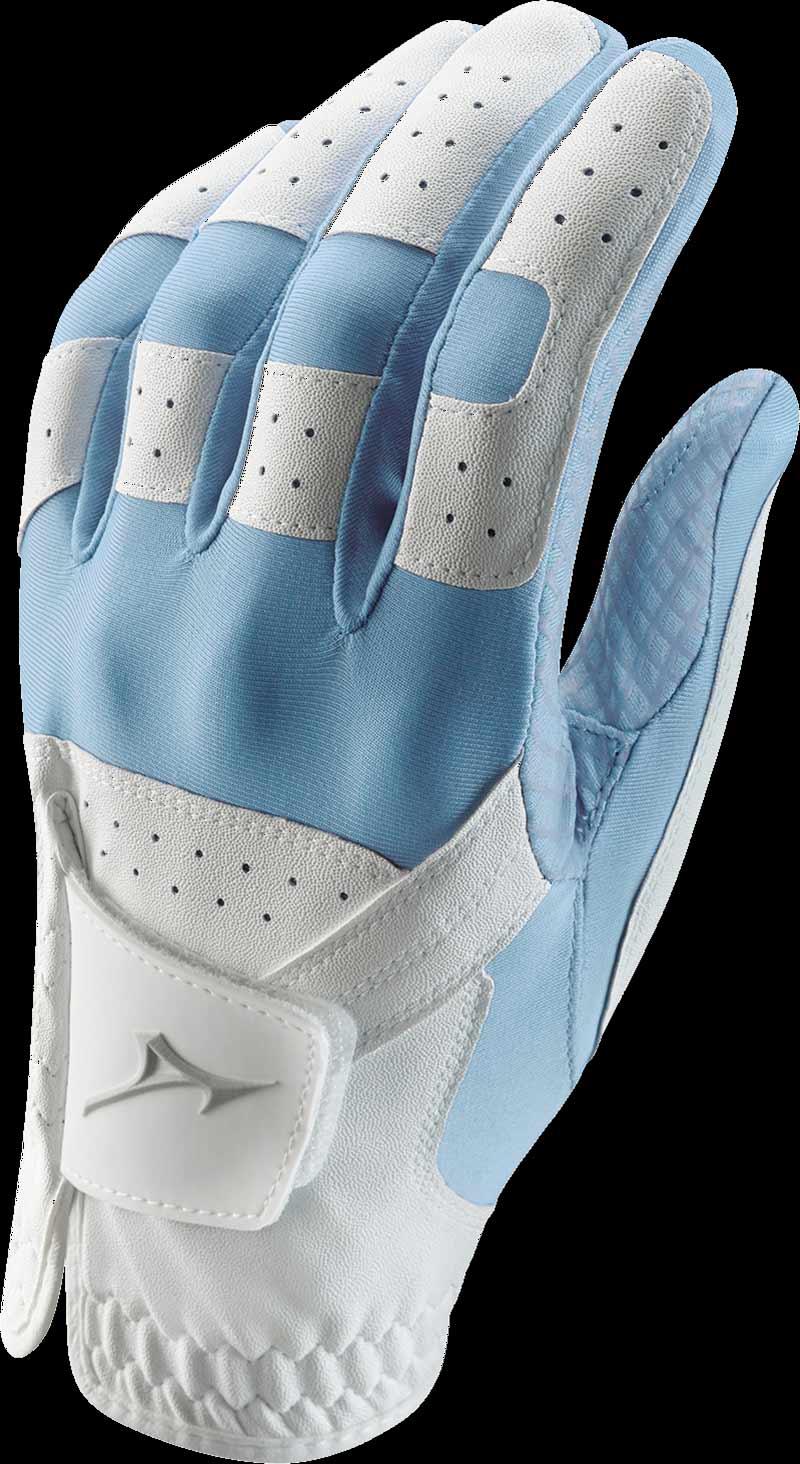 Stretch Handschuh, weiß/hellblau